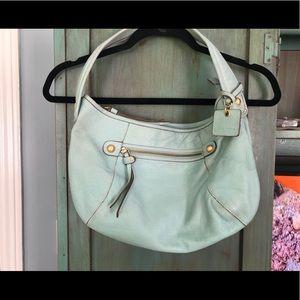 LizClaiborne  Hobo powder blue leather bag